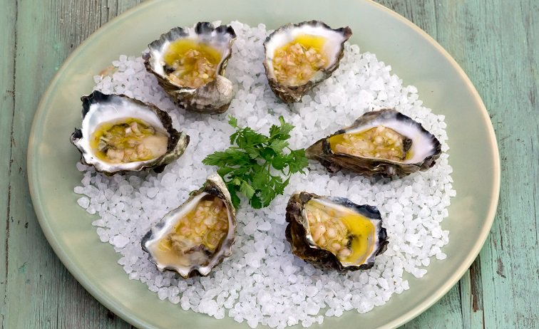 Oysters with Shallot Vinaigrette