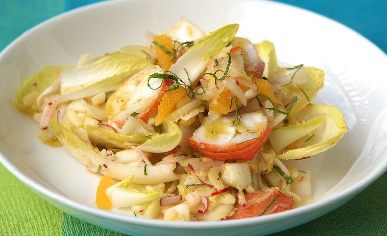 Rock Lobster Salad with Radish, Orange & Mint