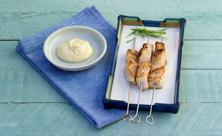 Barbecued Patagonian Toothfish Skewers with...