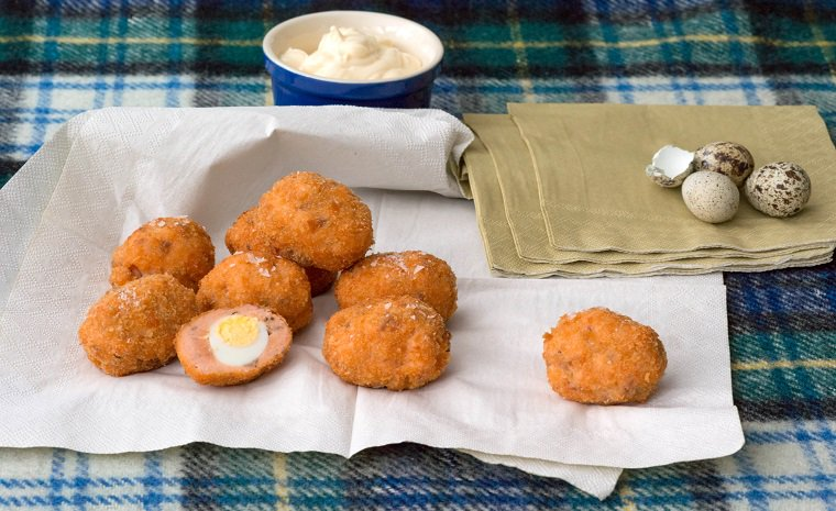 Salmon Scotch Eggs